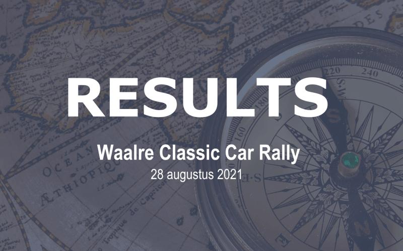 Uitslag Waalre Classic Car Rally 2021