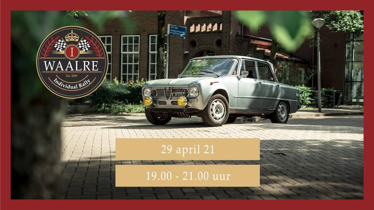 Webcast uitslag Waalre Individual Rally 2021